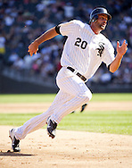 CHICAGO - JUNE 09:  Jordan Danks of the Chicago White Sox runs the bases against the Houston Astros on June 9, 2012 at U.S. Cellular Field in Chicago, Illinois.  The White Sox defeated the Astros 10-1.  (Photo by Ron Vesely)   Subject: Jordan Danks