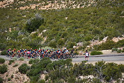 The lead group on the categorised climb at Amgen Tour of California Women's Race empowered with SRAM 2019 - Stage 3, a 126 km road race from Santa Clarita to Pasedena, United States on May 18, 2019. Photo by Sean Robinson/velofocus.com