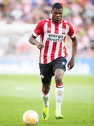 Denzel Dumfries of PSV during the Pre-season Friendly match between PSV Eindhoven and Valencia CF at the Phillips stadium on July 28, 2018 in Eindhoven, The Netherlands