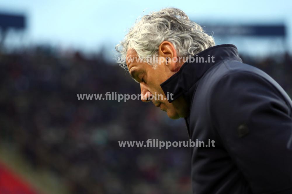"""Foto Filippo Rubin<br /> 24/02/2018 Bologna (Italia)<br /> Sport Calcio<br /> Bologna - Genoa - Campionato di calcio Serie A 2017/2018 - Stadio """"Renato Dall'Ara""""<br /> Nella foto: ROBERTO DONADONI (ALLENATORE BOLOGNA)<br /> <br /> Photo by Filippo Rubin<br /> February 24, 2018 Bologna (Italy)<br /> Sport Soccer<br /> Bologna vs Genoa - Italian Football Championship League A 2017/2018 - """"Renato Dall'Ara"""" Stadium <br /> In the pic: ROBERTO DONADONI (ALLENATORE BOLOGNA)"""