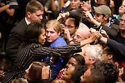 Michelle Obama at a pre-primary rally for Barack Obama in Warwick, Rhode Island, February 20, 2008.