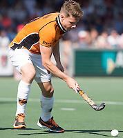 AMSTELVEEN -  HOCKEY -  Jelle Galema van OZ.   Beslissende finalewedstrijd om het Nederlands kampioenschap hockey tussen de mannen van Amsterdam en Oranje Zwart (2-3). COPYRIGHT KOEN SUYK