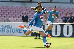 April 8, 2018 - Naples, Italy - Penalty Dries Mertens (SSC Napoli)..during the Italian Serie A football SSC Napoli v Chievo Verona at S. Paolo Stadium..in Naples on April 08, 2018  (Credit Image: © Paolo Manzo/NurPhoto via ZUMA Press)