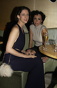 Maria Grachvogel and Marie Helvin. Launch of the Sunday Telegraph magazine 'Stella'. Momo, Berkeley St. London.   November 2005 . ONE TIME USE ONLY - DO NOT ARCHIVE © Copyright Photograph by Dafydd Jones 66 Stockwell Park Rd. London SW9 0DA Tel 020 7733 0108 www.dafjones.com
