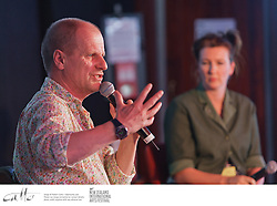 Kneehigh Theatre founder Mike Shepherd talks to interested audience members at the New Zealand International Arts Festival Art Talks series.