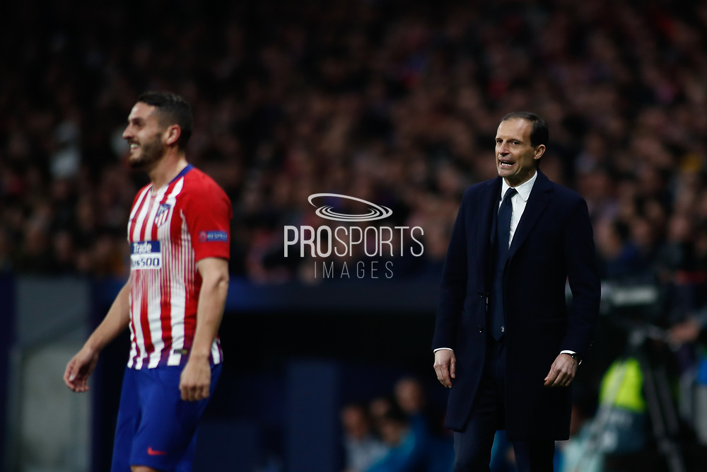 Massimiliano Allegri, coach of Juventus during the UEFA Champions League, round of 16, 1st leg football match between Atletico de Madrid and Juventus on February 20, 2019 at Wanda metropolitano stadium in Madrid, Spain - Photo Oscar J Barroso / Spain ProSportsImages / DPPI / ProSportsImages / DPPI