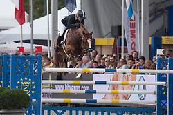 Kürten Jessica (IRL) - Arezzo VDL <br /> Sires of the World<br /> FEI World Breeding Jumping Championships for Young Horses - Lanaken 2014<br /> © Dirk Caremans