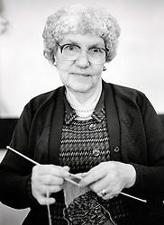 Portrait of an elderly woman, Nottingham, UK 1986