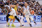 """DESCRIZIONE : Torneo Città di Sassari """"Mimì Anselmi"""" Dinamo Banco di Sardegna Sassari - AEK Atene<br /> GIOCATORE : David Logan<br /> CATEGORIA : Palleggio Penetrazione Blocco<br /> SQUADRA : Dinamo Banco di Sardegna Sassari<br /> EVENTO :  Torneo Città di Sassari """"Mimì Anselmi"""" <br /> GARA : Dinamo Banco di Sardegna Sassari - AEK Atene Torneo Città di Sassari """"Mimì Anselmi""""<br /> DATA : 12/09/2015<br /> SPORT : Pallacanestro <br /> AUTORE : Agenzia Ciamillo-Castoria/L.Canu"""