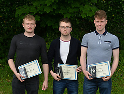 Rice College Awards Night<br /> On achieving 500 points Leaving Cert 2016  Chris O'Donnell, Shane Mannion and Colin Guilfoyle. <br />
