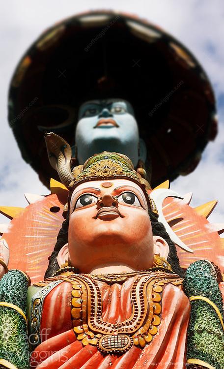 Ornately decorated Shiva statue, near Cumbum, Tamil Nadu, India