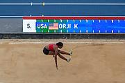 Keturah Orji, USA, Women's Triple Jump, during the Diamond League Meeting at Stade Charlety, Paris, France on 24 August 2019.