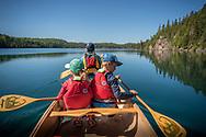 Canoeing Lake Superior's Slate Islands in Ontario, Canada.