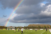 Rainbow over the ground of Slimbridge FC during the South West Womens Premier League match between Forest Greeen Rovers Ladies and Marine Academy Plymouth LFC at Slimbridge FC, United Kingdom on 5 November 2017. Photo by Shane Healey.