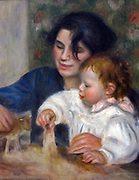 Gabrielle et Jean', 1895. Oil on canvas.  Pierre-Auguste Renoir (1841-1919) French painter.  The artist's son with his nurse playing with toy animals. Jean Renoir (1894-1979) achieved fame as a film director and screenwriter.
