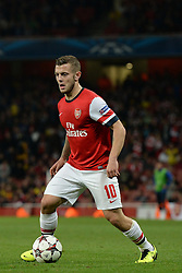 LONDON, ENGLAND - Oct 01: Arsenal's midfielder Jack Wilshere from England   during the UEFA Champions League match between Arsenal from England and Napoli from Italy played at The Emirates Stadium, on October 01, 2013 in London, England. (Photo by Mitchell Gunn/ESPA)