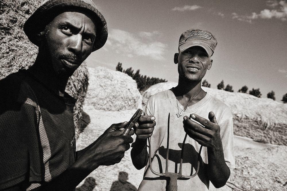 On the orad between Addis Ababa and lake Basaka