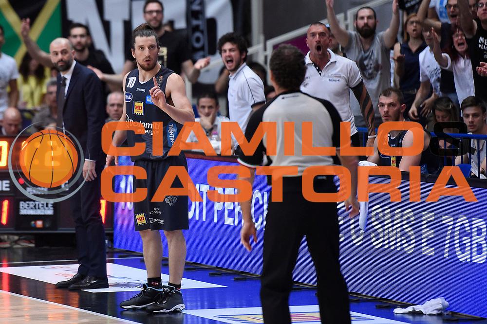 Andres Pablo Toto Forray, Maurizio Buscaglia<br /> Dolomiti Energia Aquila Basket Trento - Umana Reyer Venezia<br /> Lega Basket Serie A 2016/2017<br /> Playoff, finale gara 3<br /> Trento, 14/06/2017<br /> Foto M.Ceretti / Ciamillo-Castoria