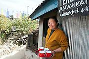 Portrait of woman selling tea, Singalila Ridge, India