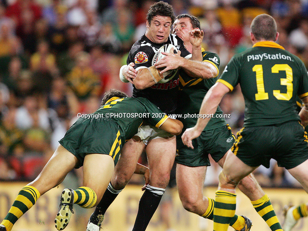 during the Anzac Test rugby league match between Australia and the Kiwis at Suncorp Stadium, Brisbane, Australia, on Friday 20 April 2007. Photo: PHOTOSPORT