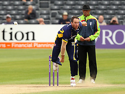 Durham's John Hastings bowls - Mandatory by-line: Robbie Stephenson/JMP - 07966386802 - 04/08/2015 - SPORT - CRICKET - Bristol,England - County Ground - Gloucestershire v Durham - Royal London One-Day Cup