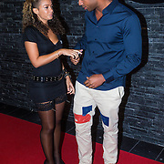 NLD/Almere/20130830 - Opening Club Cell in Almere, Fajah Lourens en partner Melvin van den Berg
