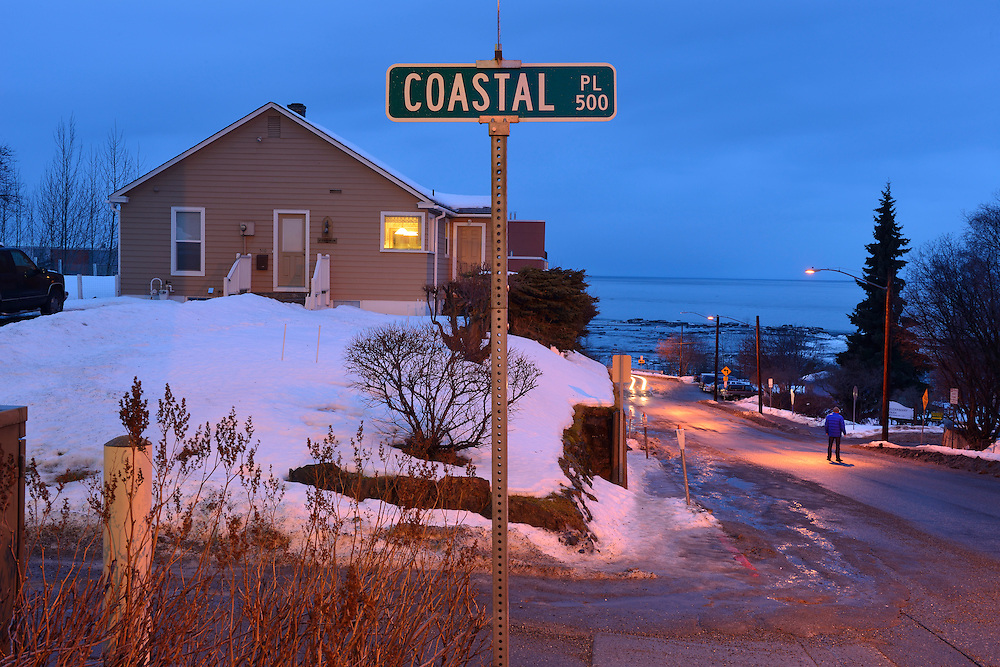 American Nightscapes / Cook Inlet,<br /> Anchorage,Alaska,USA