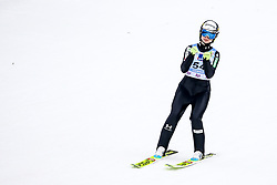 Spela Rogelj of Slovenia celebrates during Women Normal Hill Individual Competition at Day 3 of Viessmann FIS Ski Jumping World Cup Ljubno 2020, on February 23th, 2020 in Ljubno ob Savinji, Slovenia. Photo by Morgan Kristan / Sportida