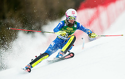 "Chiara Costazza (ITA) in action during 1st Run of the FIS Alpine Ski World Cup 2017/18 7th Ladies' Slalom race named ""Golden Fox 2018"", on January 7, 2018 in Podkoren, Kranjska Gora, Slovenia. Photo by Ziga Zupan / Sportida"