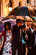 HAVANA, March 20, 2016 <br /> <br /> President Obama Visits Cuba<br /> <br /> U.S. President Barack Obama and his wife Michelle Obama make a tour in the streets of the Old Havana March 20, 2016. Barack Obama arrived in Havana on Sunday for a three-day, historic visit to Cuba. <br /> <br /> ©Exclusivepix Media