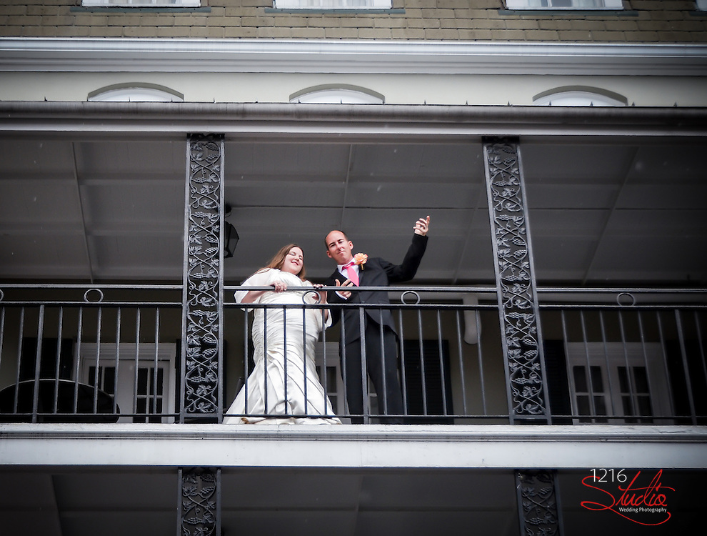 """Trea & Stephanie    Bride & Groom Session French Quarter 2013 """"First Look""""   1216 STUDIO New Orleans Wedding Photography"""