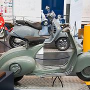 Vespa 98, circa 1946, Piaggio Museum, Pontedera, Tuscany, Italy