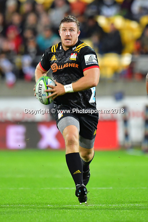 Chiefs' Nathan Harris during the Hurricanes vs Chiefs Super Rugby match at the Westpac Stadium in Wellington on Friday the 13th of March 2018. Copyright Photo by Marty Melville / www.Photosport.nz