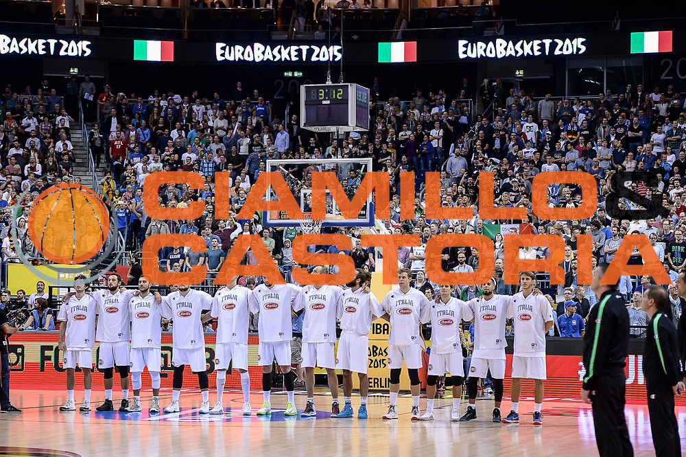 DESCRIZIONE : Berlino Berlin Eurobasket 2015 Group B Germany Germania - Italia Italy<br /> GIOCATORE : Team Italia Italy<br /> CATEGORIA : Before Pregame<br /> SQUADRA : Italia Italy<br /> EVENTO : Eurobasket 2015 Group B<br /> GARA : Germany Italy - Germania Italia<br /> DATA : 09/09/2015<br /> SPORT : Pallacanestro<br /> AUTORE : Agenzia Ciamillo-Castoria/M.Longo