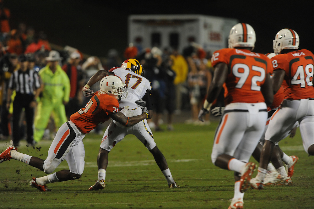 2011 Miami Hurricanes Football @ Maryland<br /> <br /> Brandon McGee