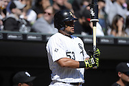 CHICAGO - APRIL 11:  Melky Cabrera #53 of the Chicago White Sox looks on against the Minnesota Twins on April 11, 2015 at U.S. Cellular Field in Chicago, Illinois.  (Photo by Ron Vesely)   Subject:   Melky Cabrera
