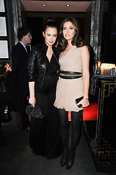 Left to right, Camilla al Fayed and Dasha Zhukova at a party to celebrate the 1st anniversary of W Doha in partnership with The Old Vic, held at Chinawhite, 4 Winsley Street, London on 22nd March 2010.