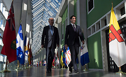 United States Vice-President Joe Biden and Canadian Prime Minister Justin Trudeau walk to a meeting at the First Ministers and National Indigenous Leaders Meeting in Ottawa, Friday December 9, 2016. Photo byAdrian Wyld/ The Canadian Press/ABACAPRESS.COM
