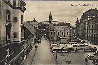 Zagreb : Preradovićev trg. <br /> <br /> ImpresumZagreb : Naklada S. Marković, [1925].<br /> Materijalni opis1 razglednica : tisak ; 8,7 x 13,7 cm.<br /> SuradnikKulčar, Antonija<br /> NakladnikNaklada S. Marković<br /> Vrstavizualna građa • razglednice<br /> ZbirkaZbirka razglednica • Grafička zbirka NSK<br /> ProjektPozdrav iz Zagreba • Pozdrav iz Hrvatske<br /> Formatimage/jpeg<br /> PredmetZagreb –– Trg Petra Preradovića<br /> SignaturaRZG-PRER-4<br /> Obuhvat(vremenski)20. stoljeće<br /> NapomenaRazglednica je putovala 1925. godine. • Razglednica je izrađena prema fotografiji Foto Tonke (Antonije Kulčar).<br /> PravaJavno dobro<br /> Identifikatori000953952<br /> NBN.HRNBN: urn:nbn:hr:238:640438 <br /> <br /> Izvor: Digitalne zbirke Nacionalne i sveučilišne knjižnice u Zagrebu