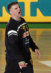 Goalkeeper of Cimos Koper Enid Tahirovic  at handball match RK Cimos Koper vs RK Trimo Trebnje in semifinal of Slovenian Handball Cup, on March 29, 2008 in Celje, Slovenia. Won of Cimos Koper 30:23. (Photo by Vid Ponikvar / Sportal Images)