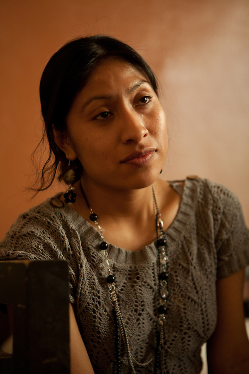 Perfecta Villegas, a native speaker of Nahuatl, an Aztec langage of Mexico.