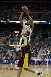 Virginia Cavaliers point guard Sean Singletary (44) shoots against Albany.  The #4 seed Virginia Cavaliers defeated the #13 seed Albany Great Danes 84-57 in the first round of the South Region Men's NCAA Tournament in Columbus, OH on March 16, 2007.