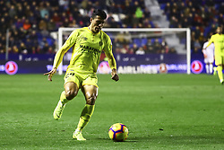 January 4, 2019 - Valencia, Spain - Pedro Porro of Girona FC  during  spanish La Liga match between Levante UD vs Girona FC  at Ciutat de Valencia  Stadium on January  4, 2018. (Photo by Jose Miguel Fernandez/NurPhoto) (Credit Image: © Jose Miguel Fernandez/NurPhoto via ZUMA Press)