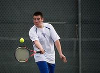 Boys tennis Interlakes versus Prospect Mountain.  Karen Bobotas for the Laconia Daily Sun