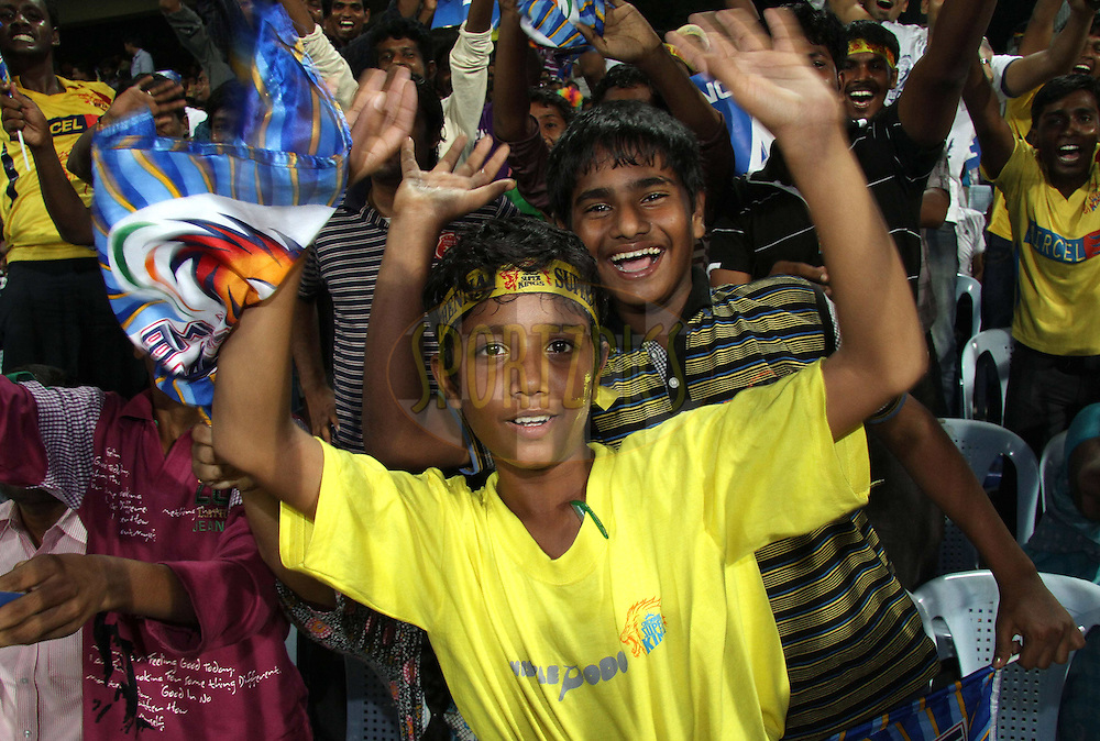 Fans during match 3 of the NOKIA Champions League T20 ( CLT20 )between the Chennai Superkings and the Mumbai Indians held at the M. A. Chidambaram Stadium in Chennai , Tamil Nadu, India on the 24th September 2011..Photo by Shaun Roy/BCCI/SPORTZPICS