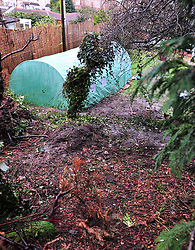 © Licensed to London News Pictures. 07/01/2016<br /> The Bottom of Sian Blake's garden at her home in Erith,Kent.<br /> <br /> Ex-Eastenders actress Sian Blake's home in Erith,Kent has turned into a crime scene (07.01.2016) with officers from the Met's Homicide and Major Crime Command leading the murder investigation.<br /> <br /> (Byline:Grant Falvey/LNP)