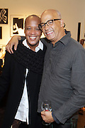 New York, NY-December 3: Edward Wilkerson, Creative Director, Lafayette 148 and Photographer George Chinsee attend Harriette Cole's 20th Anniversary Business Celebration held at Lafayette 148 Headquarters on December 3, 2015 in New York City.  (Photo by Terrence Jennings/terrencejennings.com)