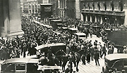 Crowds and police outside the New York Stock Exchange after the Wall Street Crash, 24 October 1929 - Black Thursday.