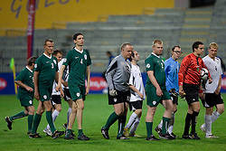 Special olimpiada of Slovenia at Final football match  of Hervis Cup between NK Maribor and NK Domzale, on May 8, 2010, played in Ljudski vrt, Maribor, Slovenia. Maribor defeated Domzale after overtime 3-2 and became Slovenian Cup Champion. (Photo by Vid Ponikvar / Sportida)