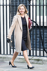 Downing Street, London, January 17th 2017. Education Secretary Justine Greening arrives at the weekly cabinet meeting at 10 Downing Street.